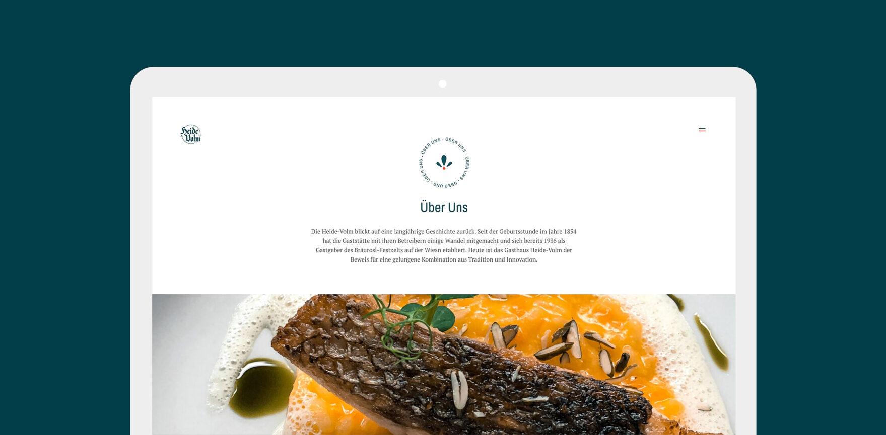 Unterseite Ueber Uns - Heide Volm Website
