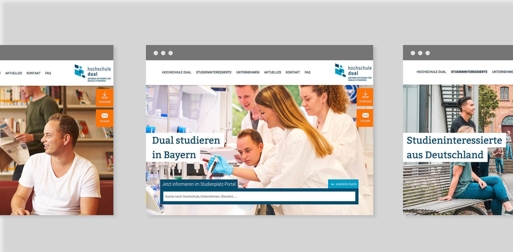 hochschule dual Website Relaunch Webdesign