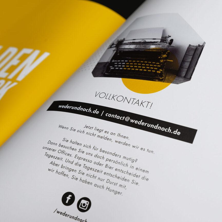 Referenz Imagebroschuere Weder und Noch