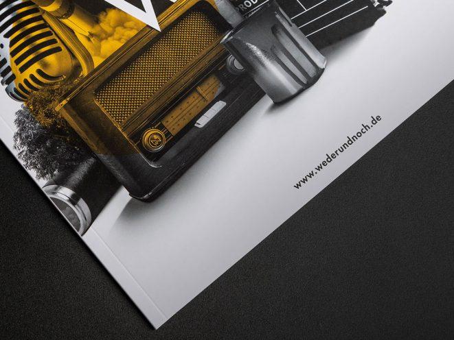 Referenz Imagebroschuere Weder und Noch Titelseite
