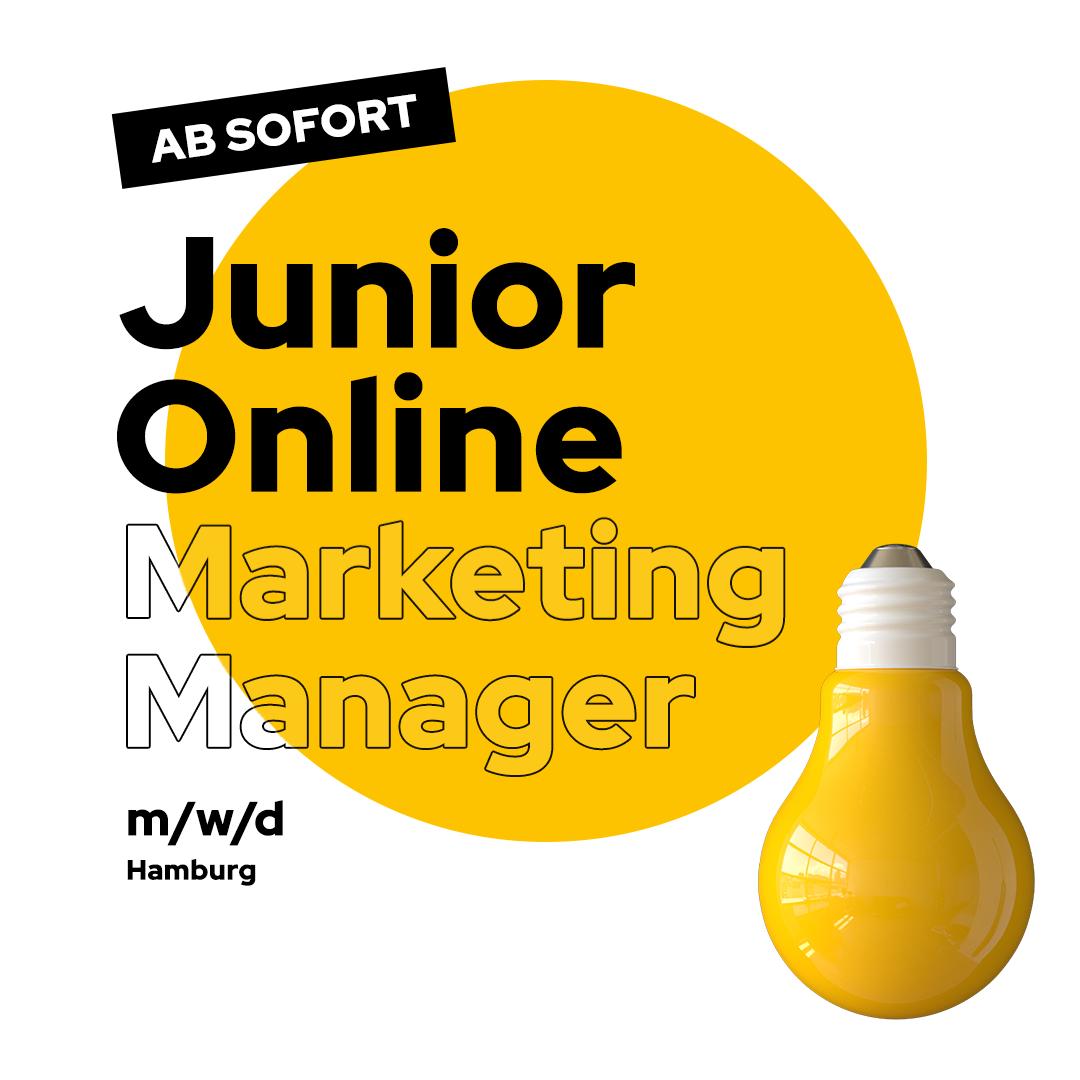 Stellenanzeige Junior Online Marketing Manager Hamburg