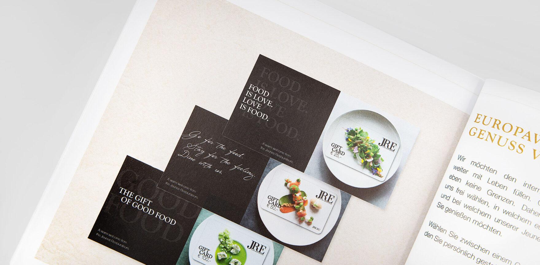 JRE Hotel- und Restaurantführer 2021 Cover Gift Cards