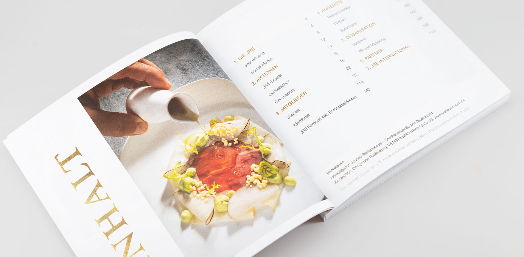 JRE Hotel- und Restaurantführer 2021 Inhaltsverzeichnis