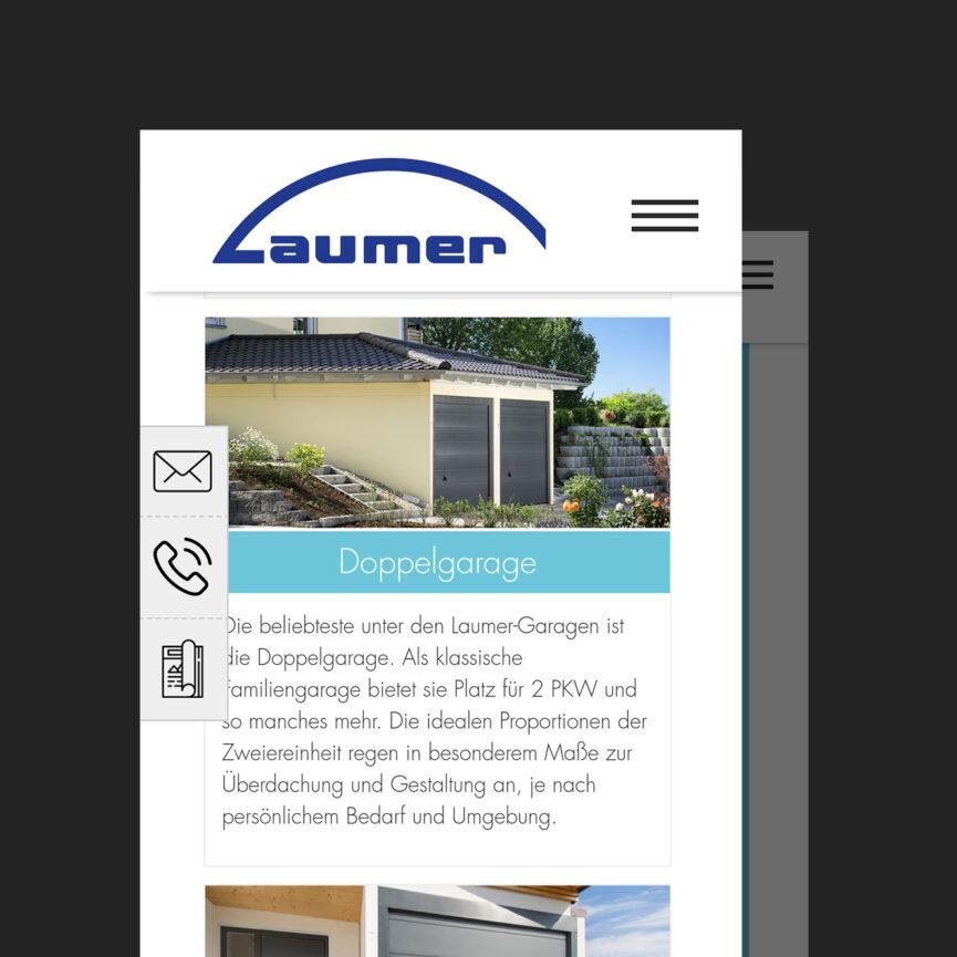 Referenz Webseite Laumer Bauchtechnik