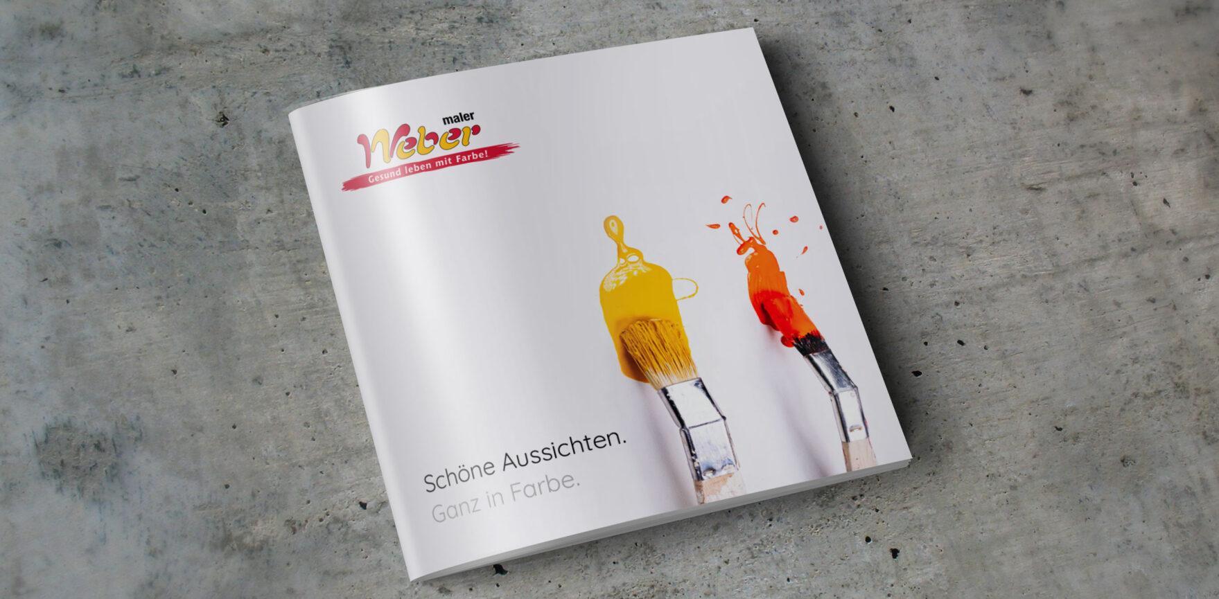 Maler Weber Imagebroschuere Cover quadratisch