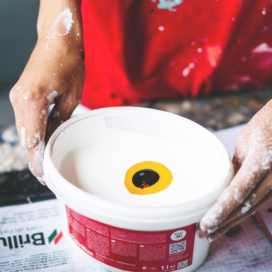 Maler Weber Website Relaunch Farbeimer Mood Farben mischen Leistungen