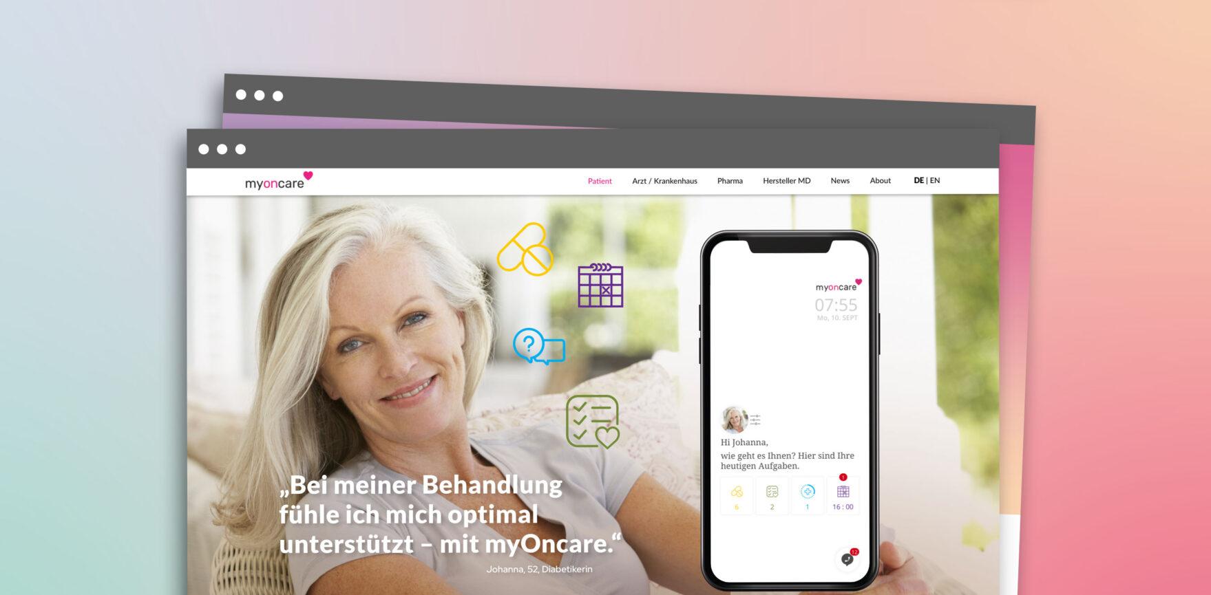 OnCare Webdesign Desktop Startseite
