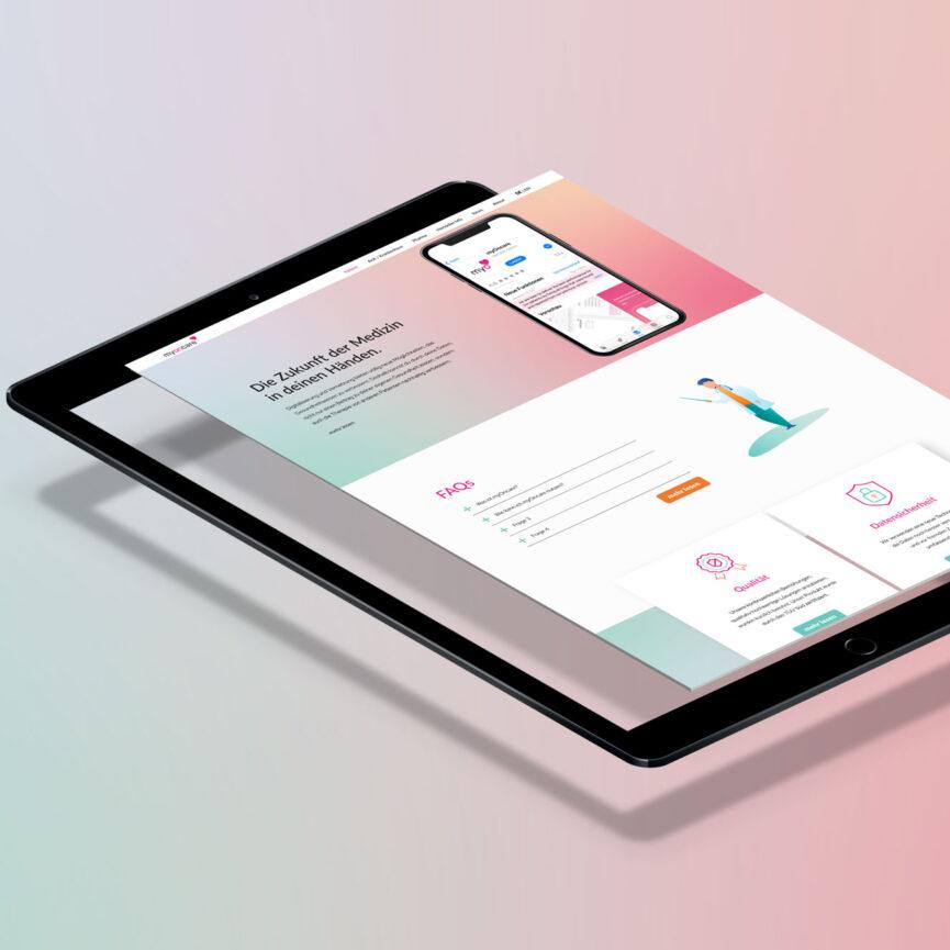 OnCare Webdesign mobile Ansicht Tablet