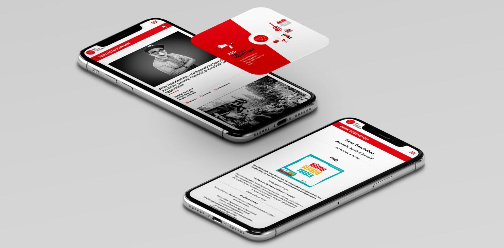 Referenz Red Valley Ventures mobiel Ansicht Website 3d Darstellung