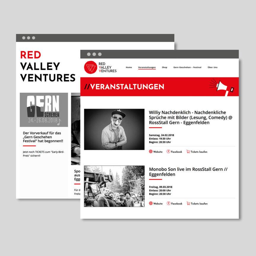 Referenz Red Valley Ventures iPad Ansicht Website