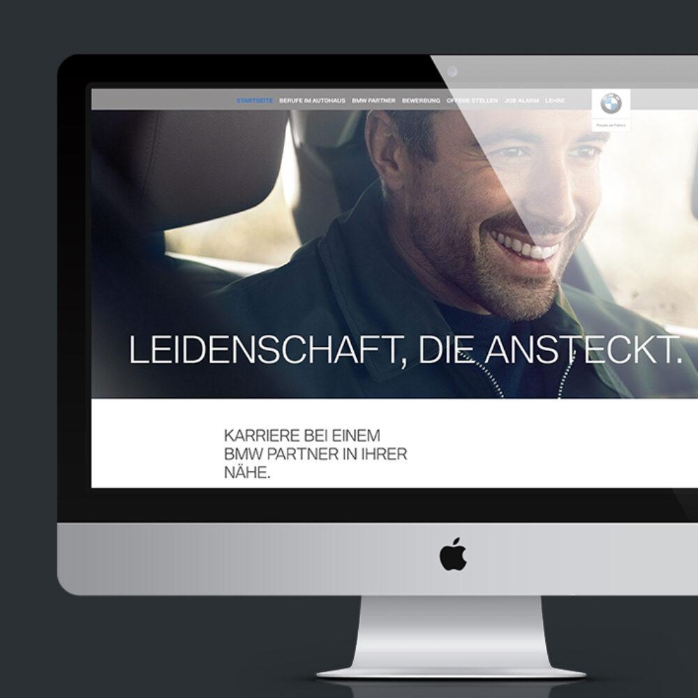 BMW Karriere Website Relaunch Desktop Ansicht Freude am Fahren