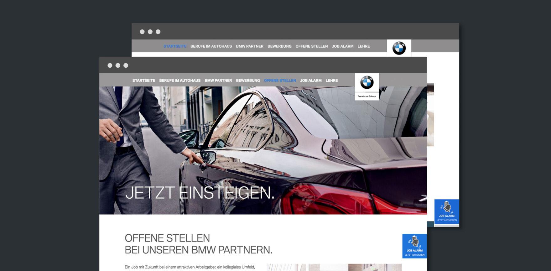 BMW-Karriere Website Relaunch-Unterseite-Karriere