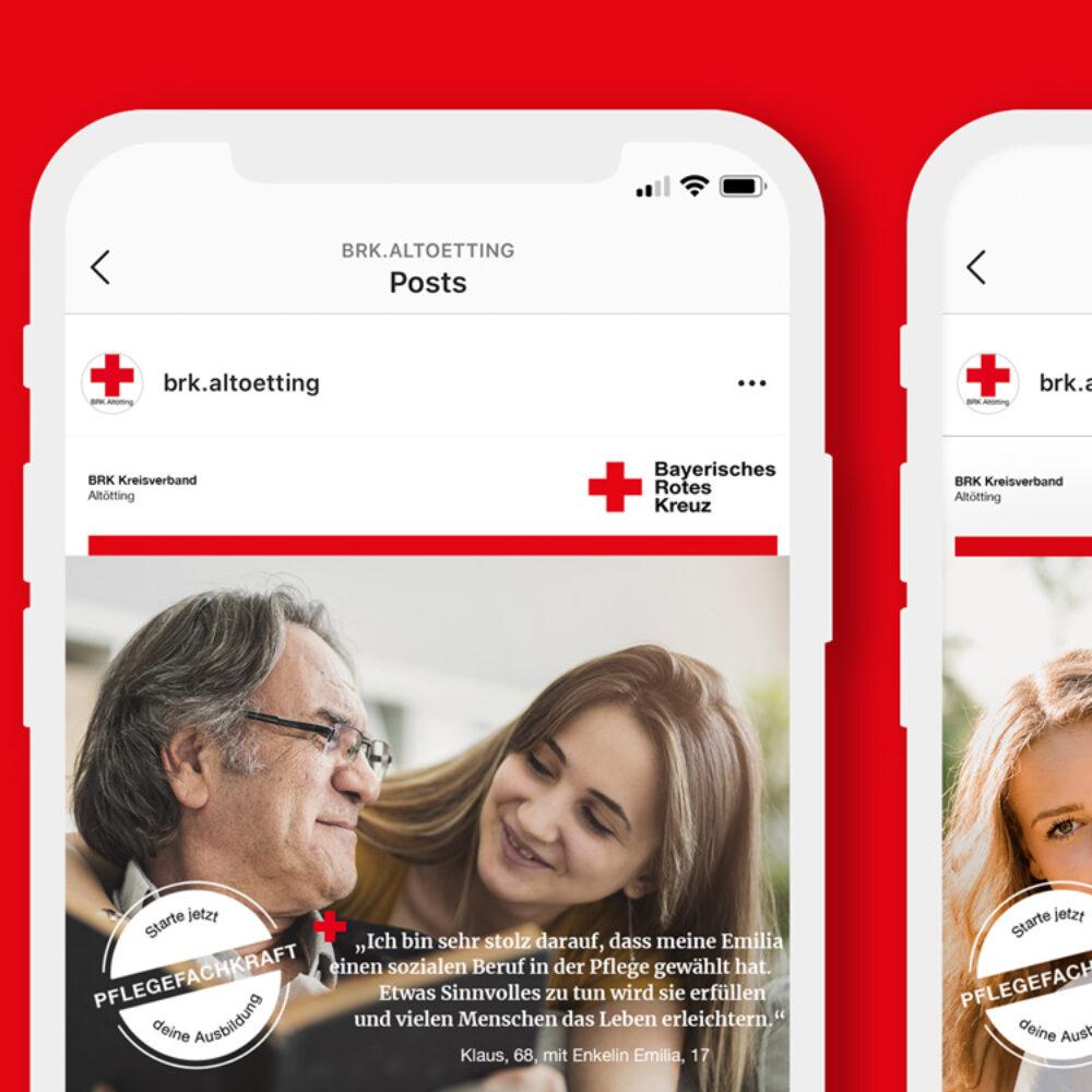 Employer Branding Kampagne BRK mobile Ansicht