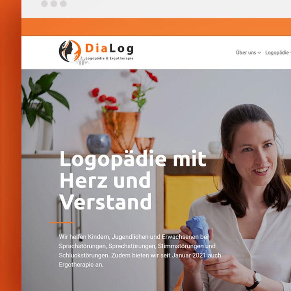 Startseite Website Praxis Dialog