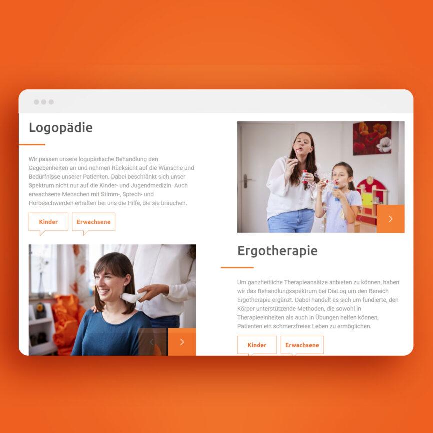Website Praxis Dialog Logopädie und Ergotherapie