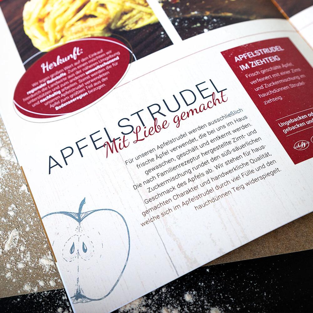 Imagebroschuere Dinghartinger Seite Apfelstrudel