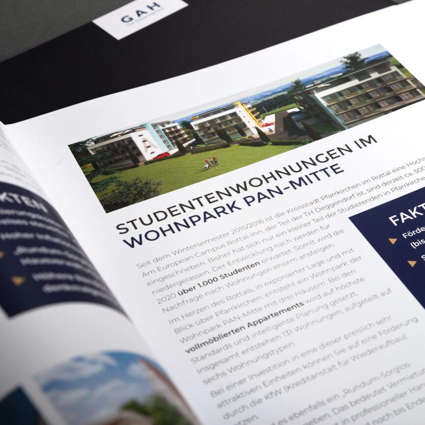 Geldanlagehaus Folder Studentenwohnheim