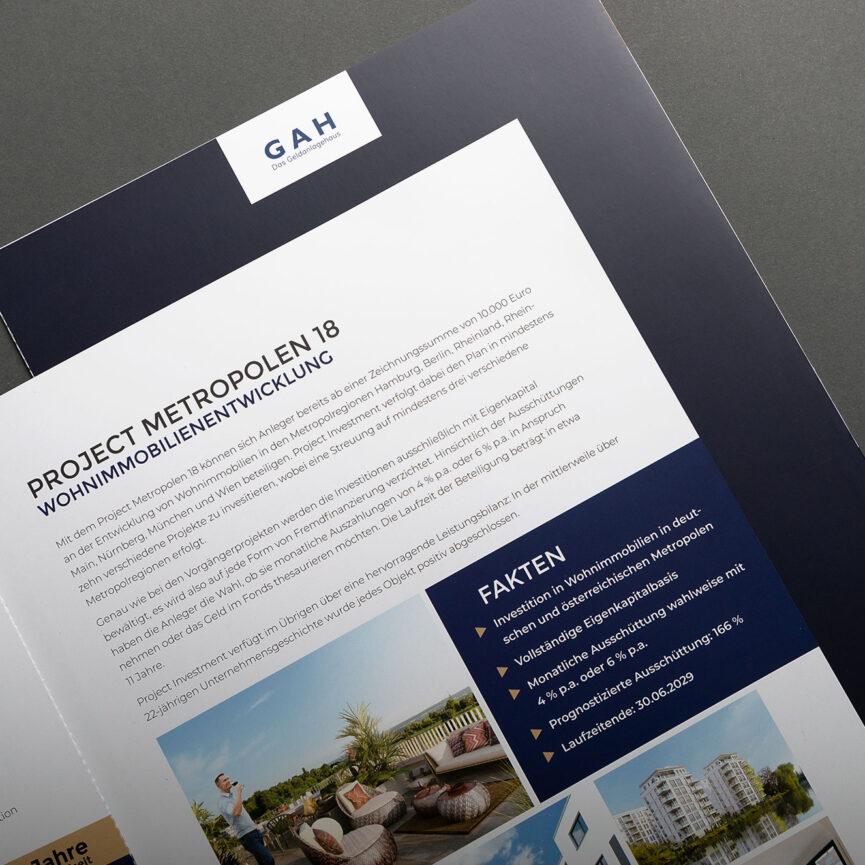 Innenteil Print Broschuere mit Text und Bild