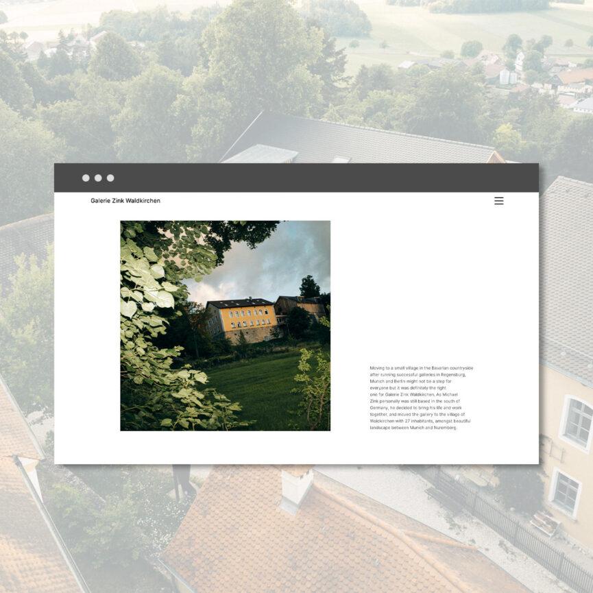 Galerie Zink Website Redesign Unterseite About