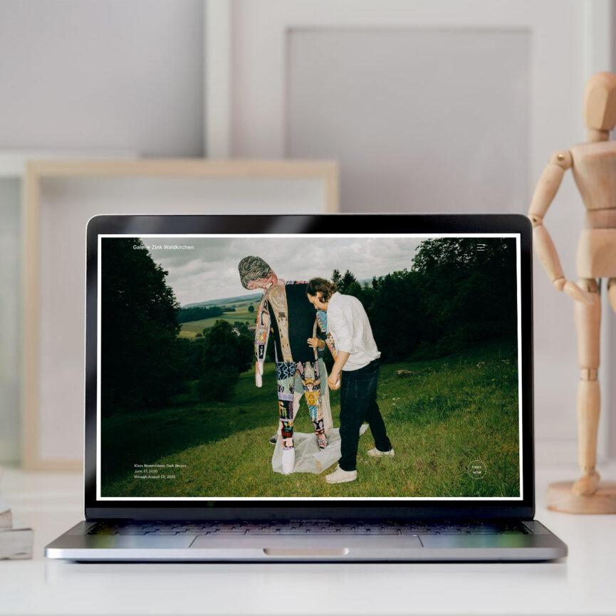 Galerie Zink Website Redesign Desktop Ansicht Macbook