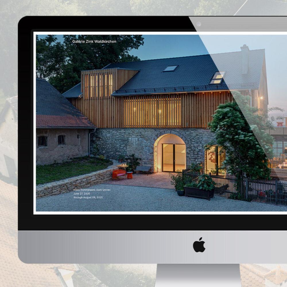 Galerie Zink Website Redesign Startseite