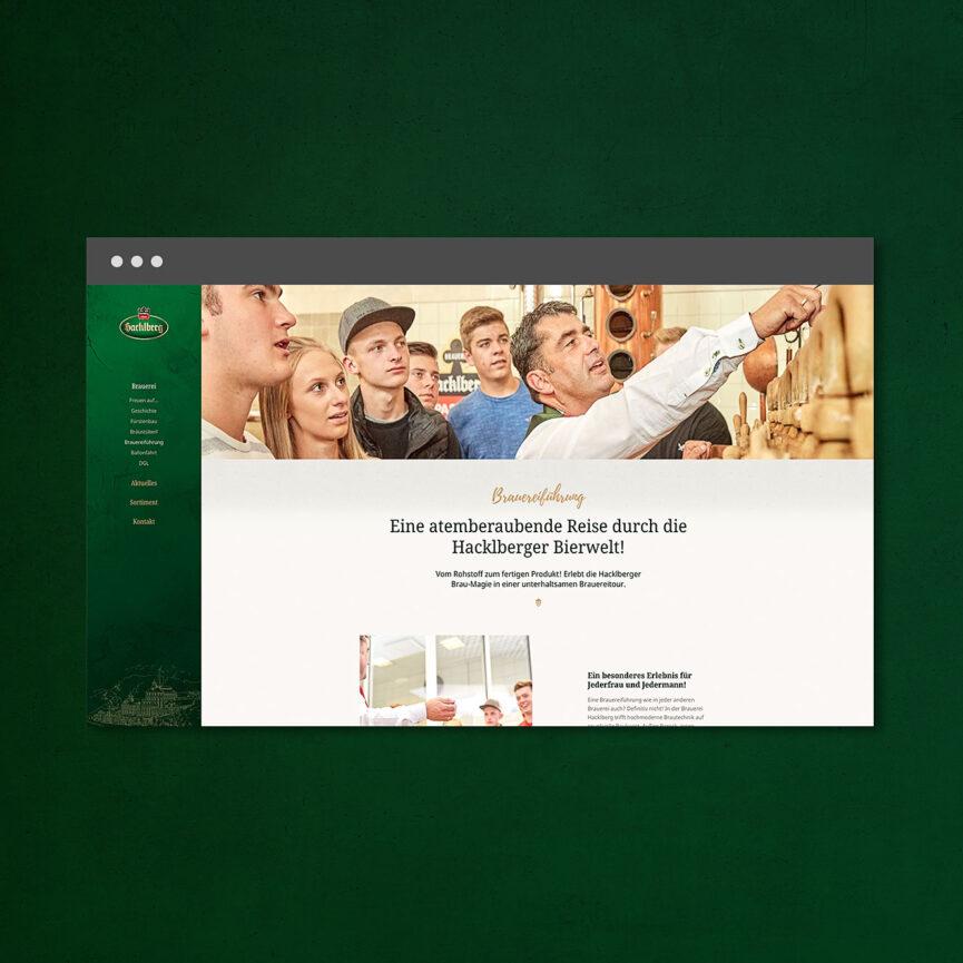Website Brauerei Hacklberg