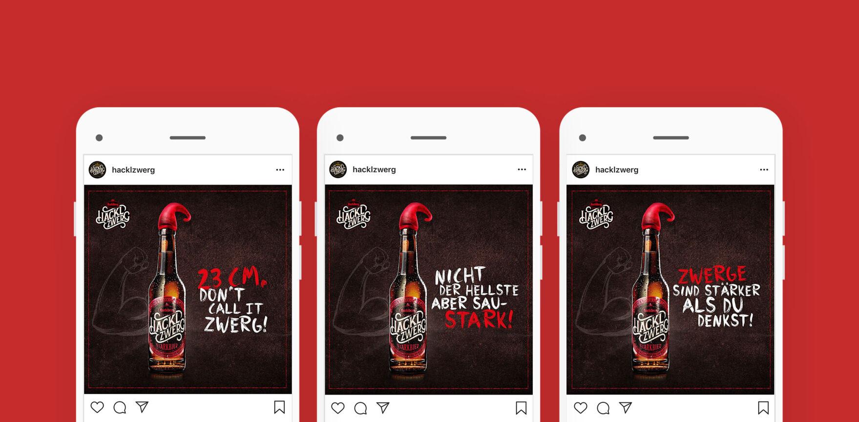 Brauerei Hacklberg - Hacklzwerg Kampagne Instagram Post