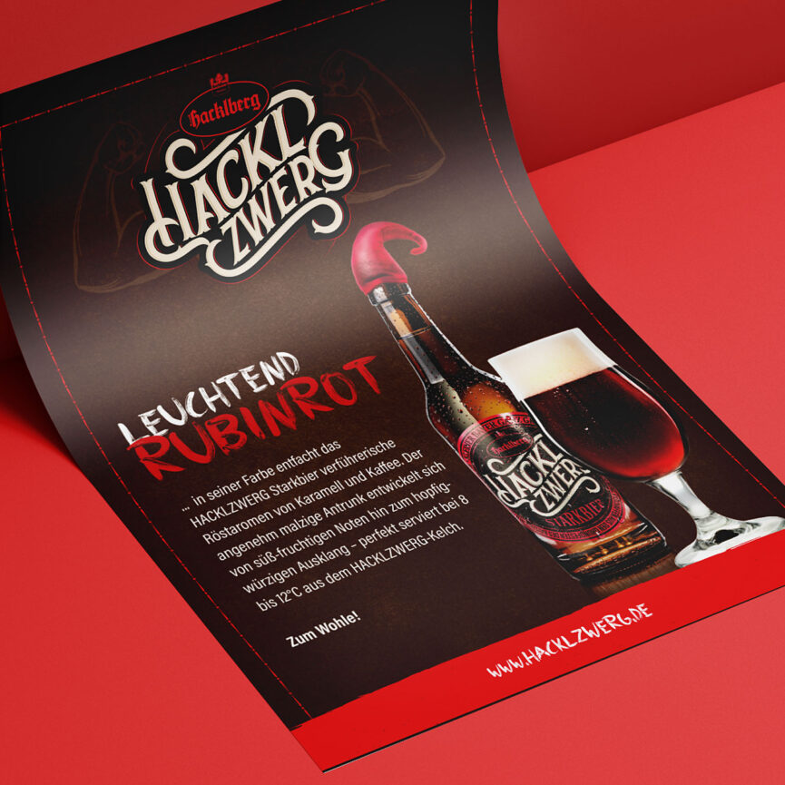 Brauerei Hacklberg Hacklzwerg Kampagne Flyer
