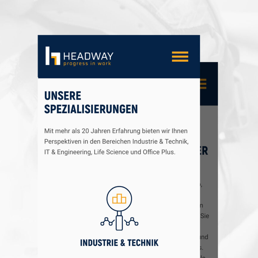 Headway Personal Website mobil