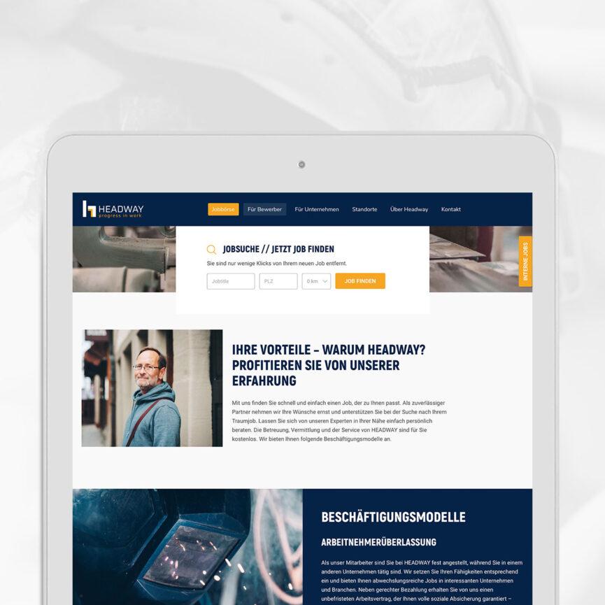 Headway Personal Website iPad