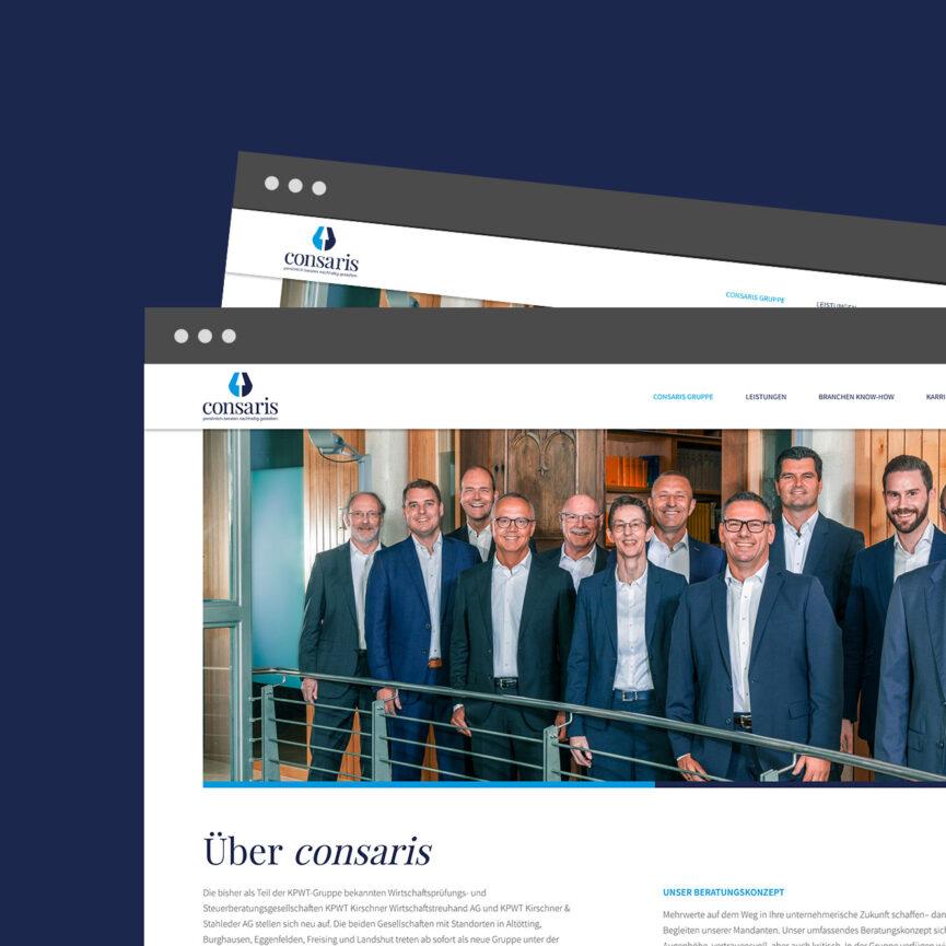 Webseite Consaris