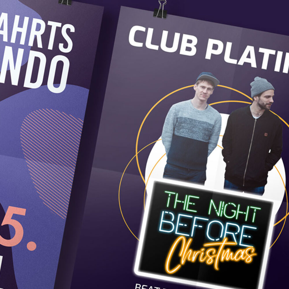 Plakate Club Platinum Konzeption und Kreation