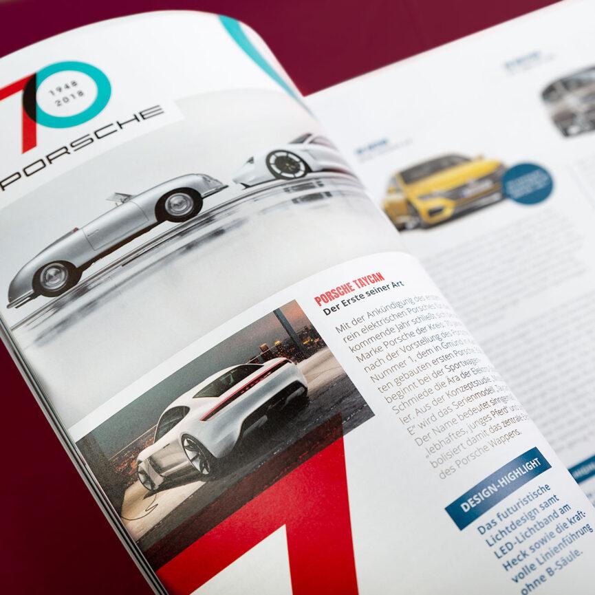 Porsche Kundenmagazin Innenteil