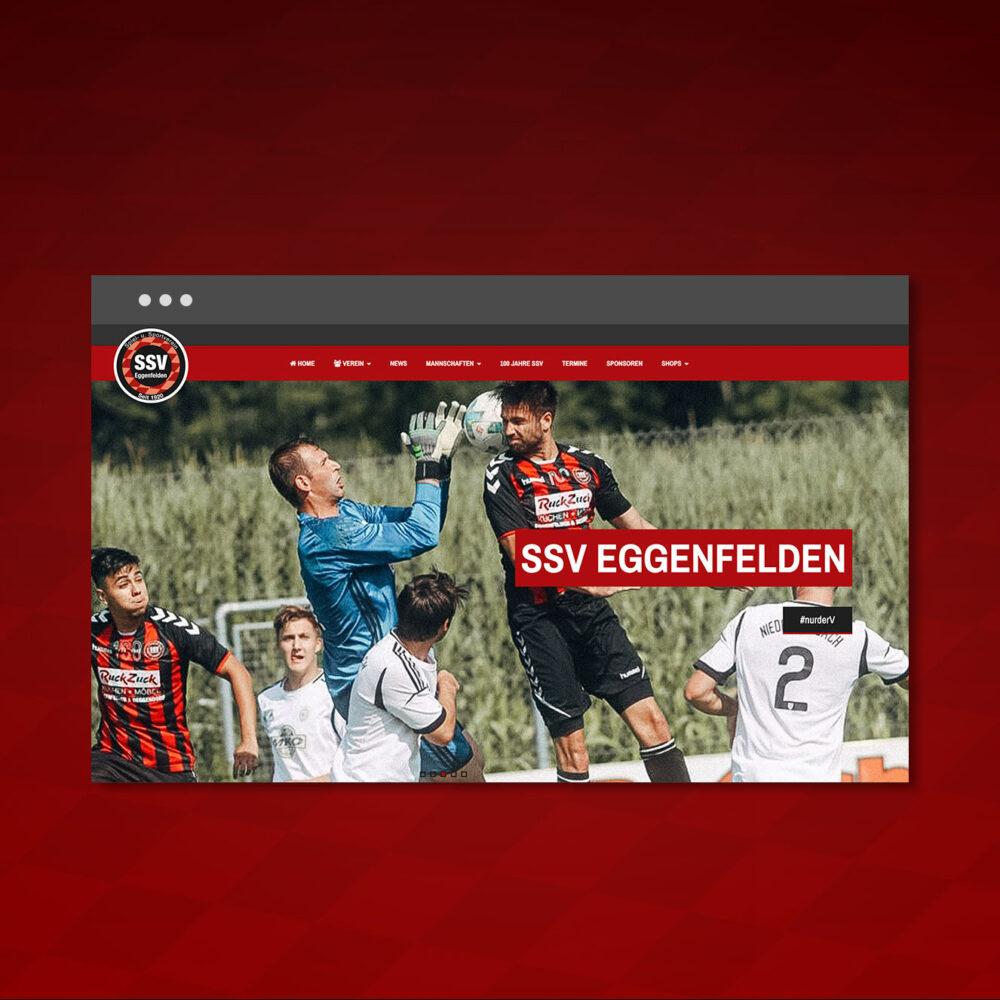 SSV Eggenfelden Website Relaunch Startseite Header