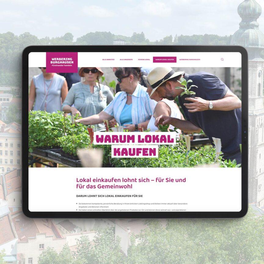 Burghausen kauft lokal iPad