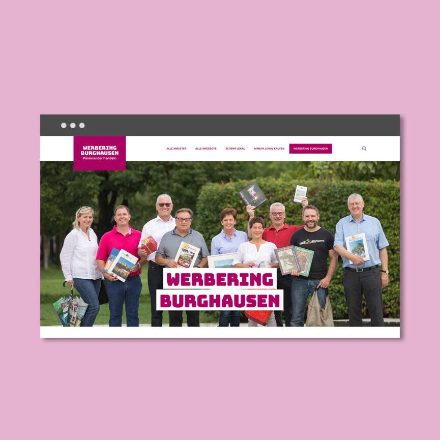 Burghausen kauft lokal Werbering