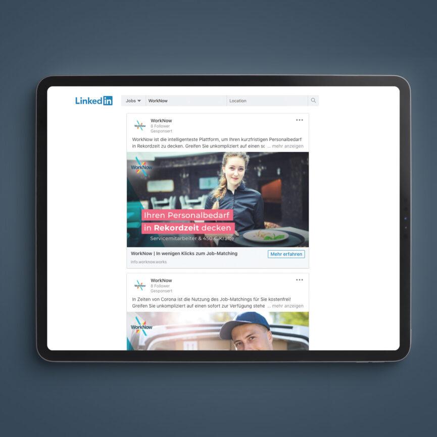 WorkNow Online Marketing LinkedIn Anzeigen