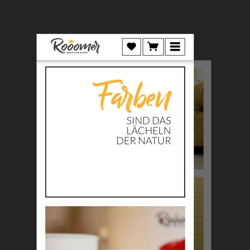Referenz Webseite rooomer