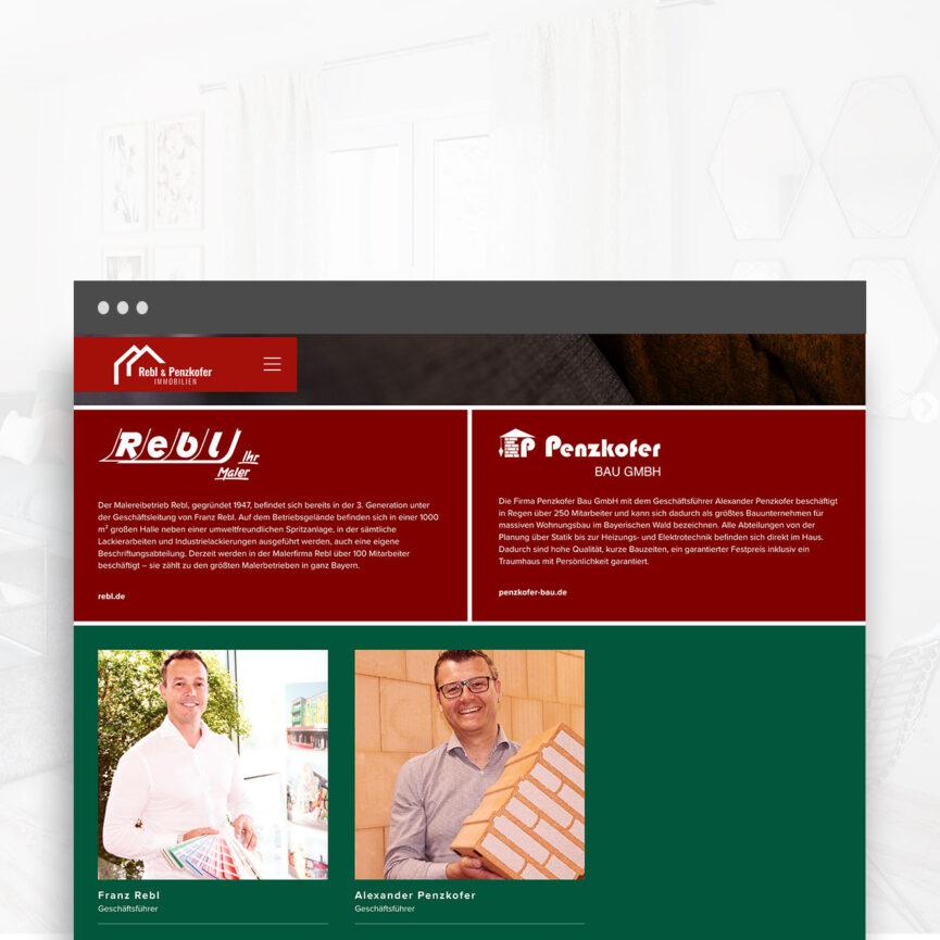 Rebl und Penzkofer Website Immobilien Unterseite Ueber Uns