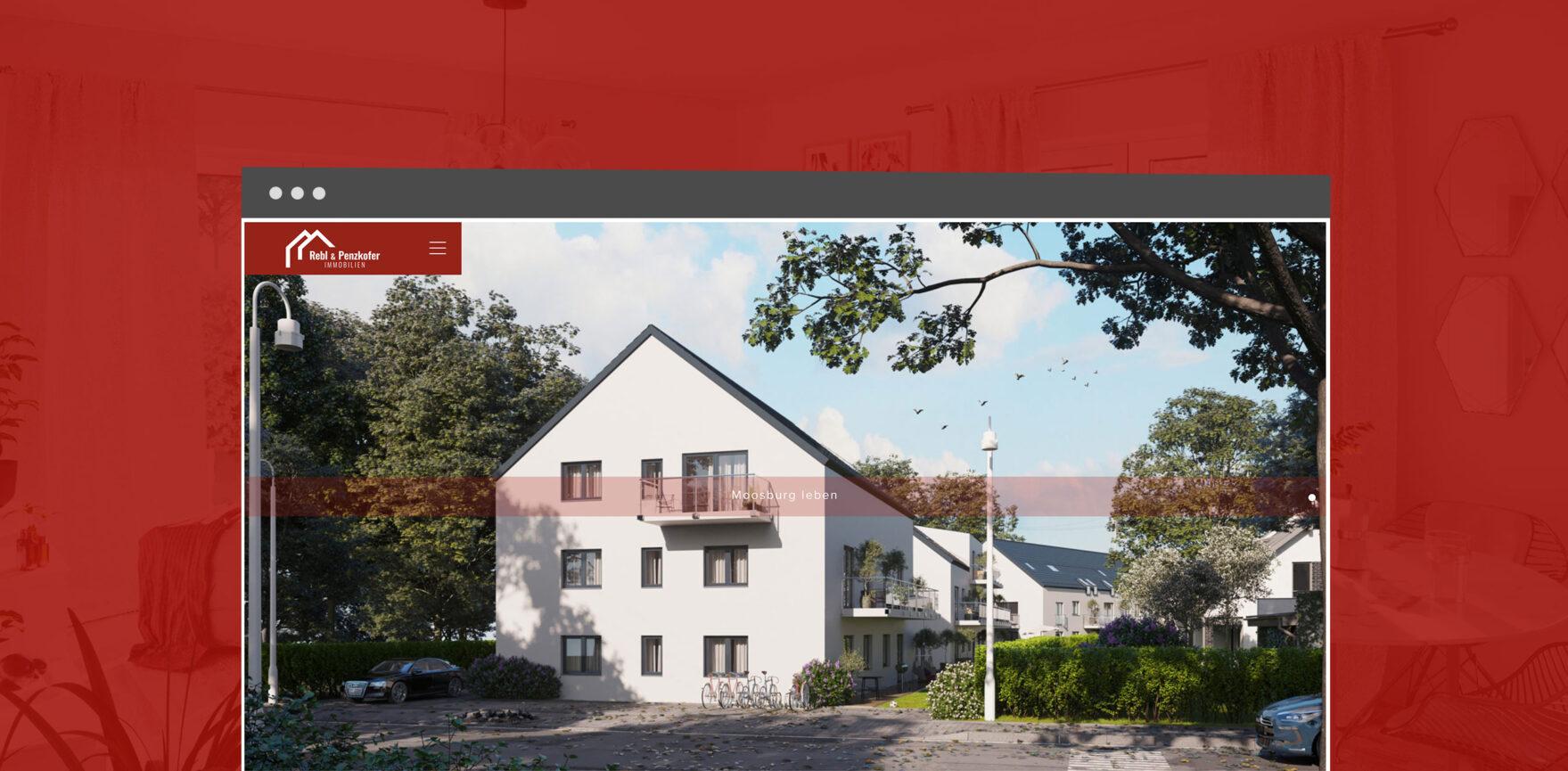 Rebl und Penzkofer Website Immobilien Startseite