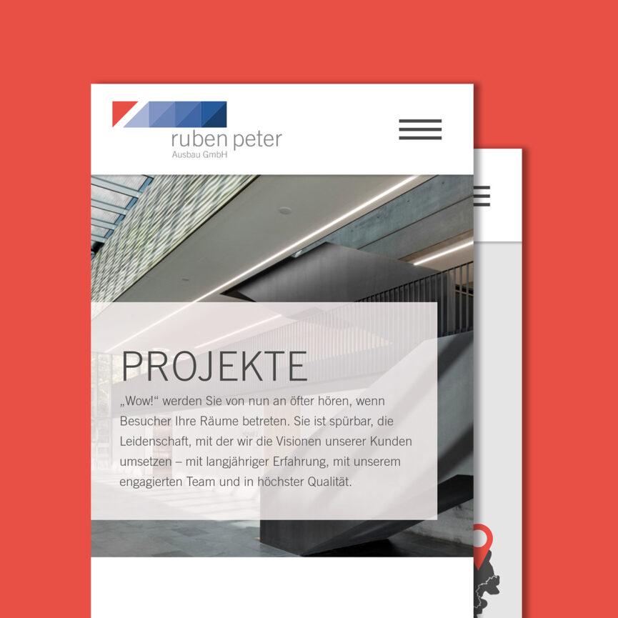 Referenz Webseite Ruben Peter