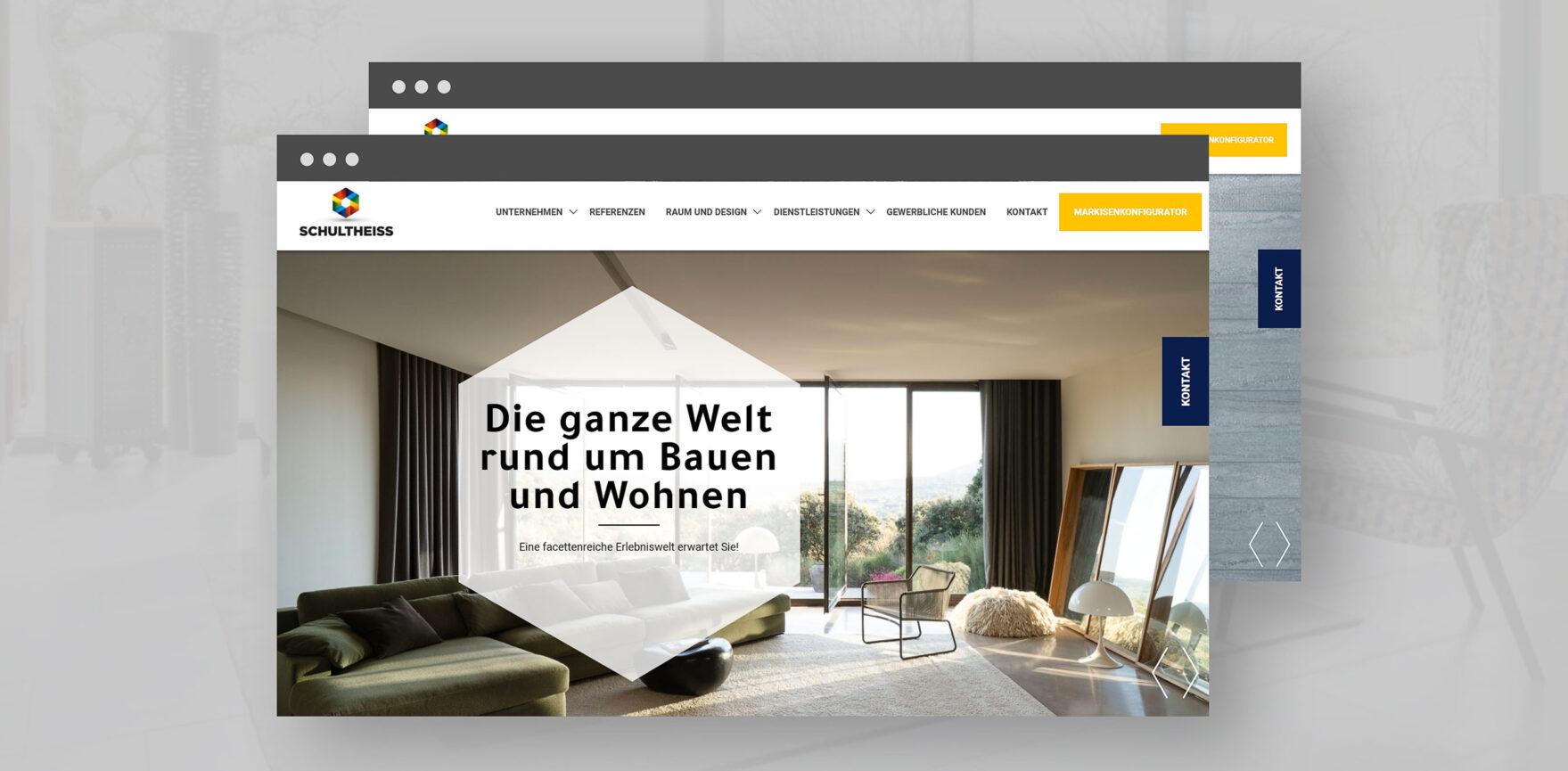 Startseite der Schultheiss GmbH im neuen Webdesign
