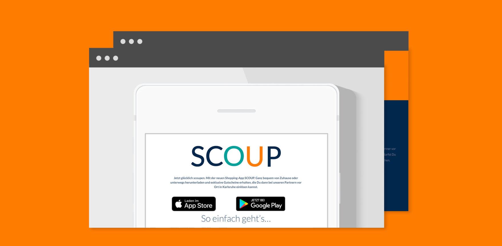 Scoup Website Ausschnitt